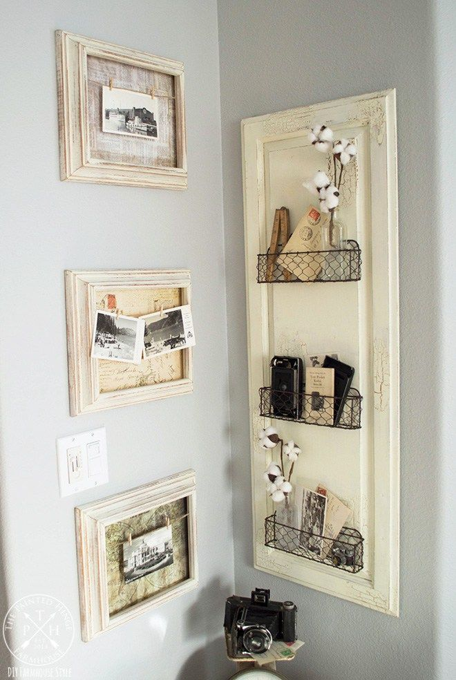 Diy Farmhouse Style Chicken Wire Basket Shelf Farmhouse Shelves Diy Farmhouse Style Diy Wire Basket Shelves