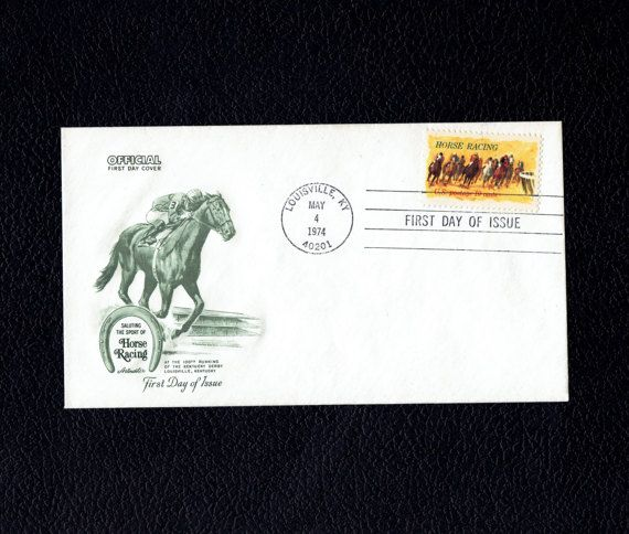 US 1528 Horse Racing May 4 1974 Louisville KY First Day Cover  Scott's US 1528 FDC  Artmaster Cachet #usstamps #firstdaycovers #freeshippingusa