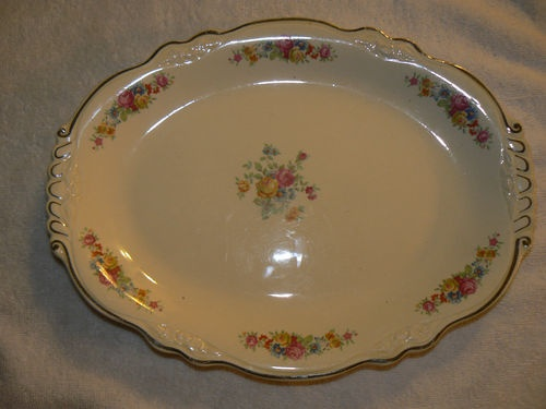 Vintage Homer Laughlin Virginia Rose Platter B46 N 8 Circa 1946 EBay bid starts at $20 & 9 best Homer laughlin dishes images on Pinterest | Homer laughlin ...