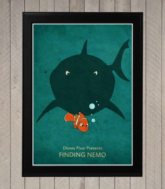 Finding Nemo - Minimalist Disney Pixar movie poster, Minimalist Retro Poster, Movie Poster, Art Print