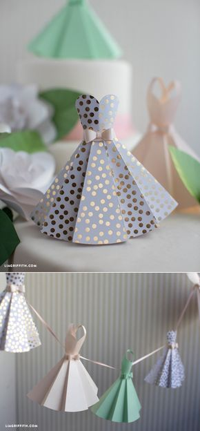 #diywedding #weddingdecor #paperdress www.LiaGriffith.com: