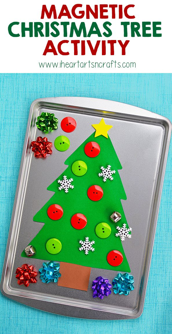 Magnetic Christmas Tree Activity - Use a $1 cookie sheet to make this easy Christmas Activity!