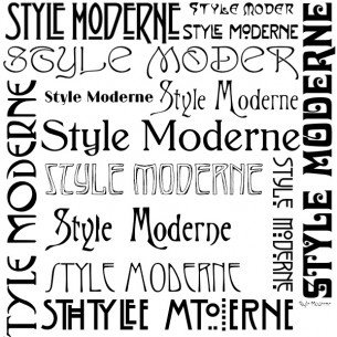 French font style