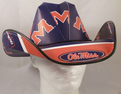 Get the perfect look while showing everyone who you cheer for. This Backswing bucket hat features an adjustable chin cord and team colors letting you look great everywhere you go. Bold Ole Miss Rebels graphics sit on the front of this hat from Top of the World letting everyone know that you're one stylish fan. http://www.redneckbeerhats.com/shop/college-football-hats/ole-miss-rebels-cowboy-hat-cowboy-hat/