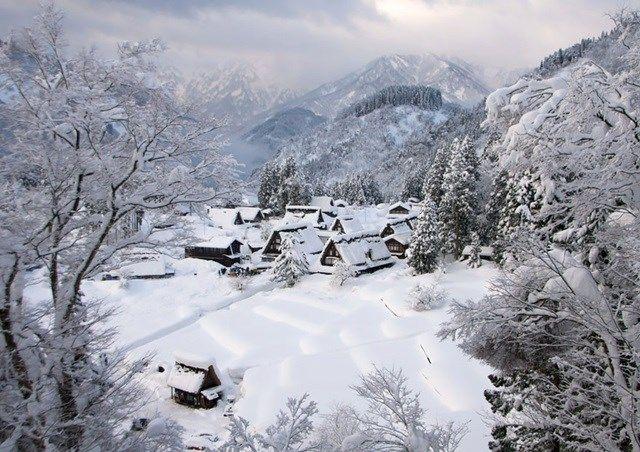 9.Devido ao seu isolamento geográfico, Gokayama, no Japão, pouco mudou nos últimos séculos