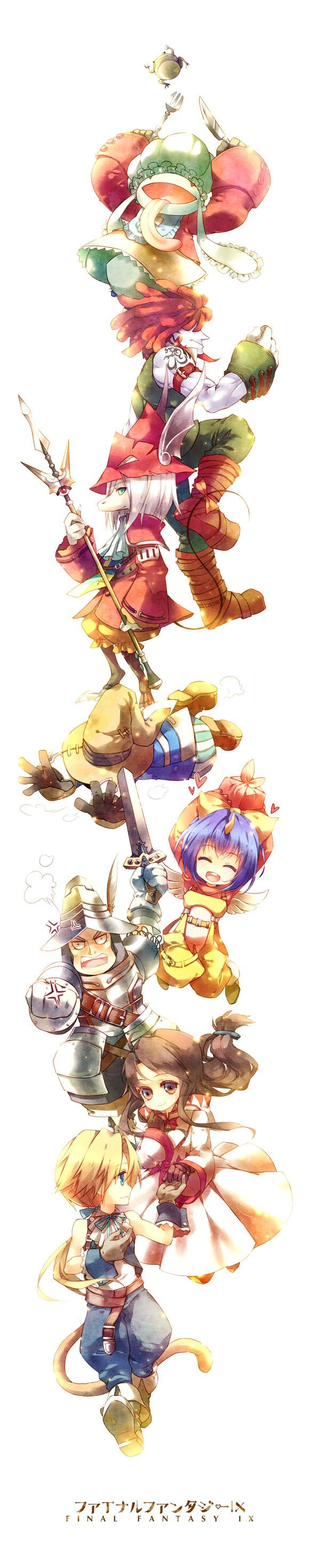 Final Fantasy 9 all the playable characters.                              …
