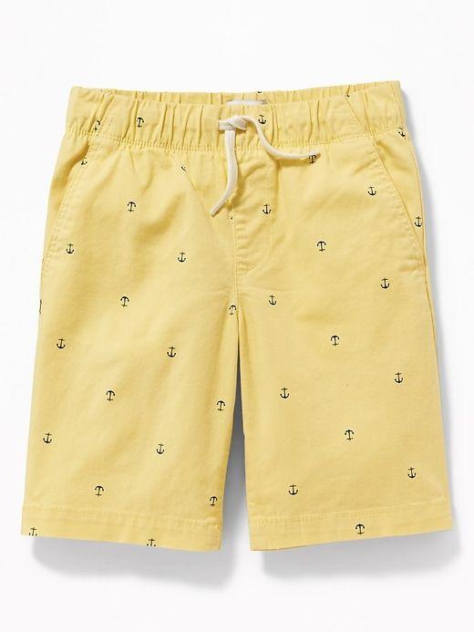 8eda70d54e Old Navy Boys' Straight Built-In Flex Twill Jogger Shorts Anchors ...