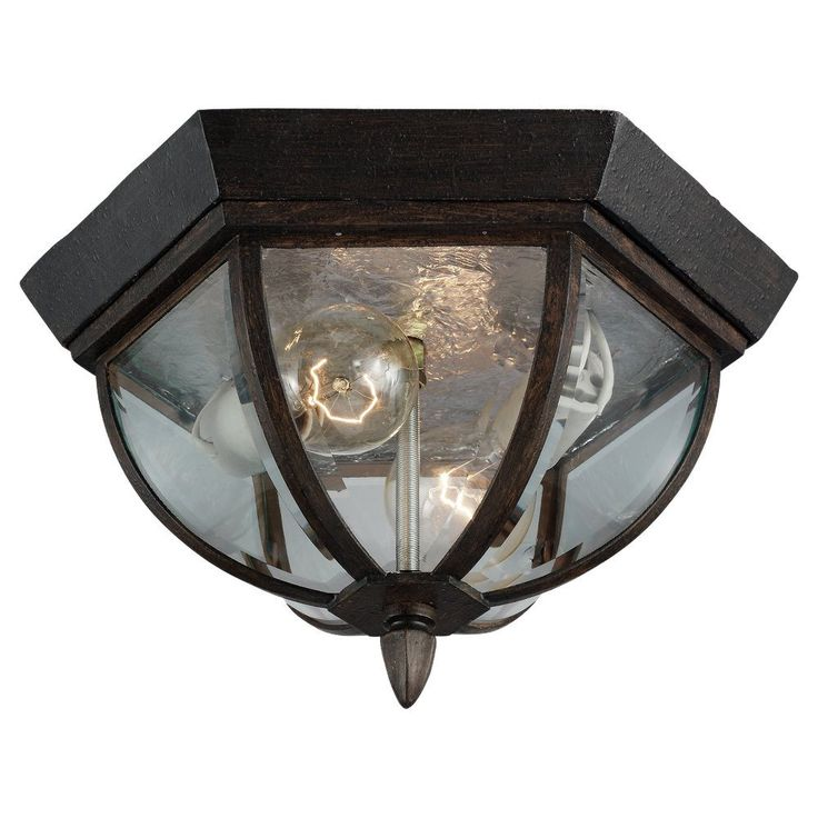 South Shore Decorating: Sea Gull Lighting 78136-08 Ardsley Court Traditional Outdoor Flush Mount Ceiling Light SG-78136-08