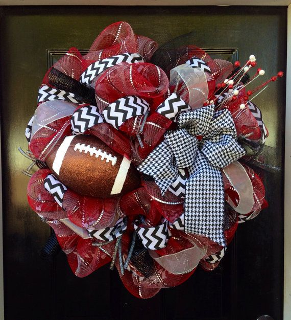 University of Alabama Football Deco Mesh Wreath on Etsy, $65.00