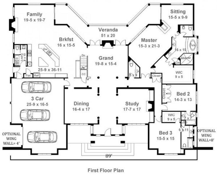47 best Floor Plans images on Pinterest Home plans Arquitetura