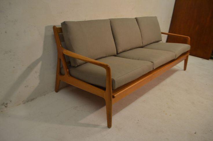 STUNNING VINTAGE DANISH TEAK SOFA BED SETTEE  #ArtModerne