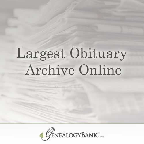 Search the Largest Obituary Archive Online at GenealogyBank. Start Your 30 Day Trial Now: http://genealogybank.com/static/lp/2014/nov/obits.html?utm_source=pinterest&utm_medium=cpc&utm_campaign=PC_2OB_3gob_ad2_pinterest_0824_15&matchtype=%7Bmatchtype%7D&keyword=%7Bkeyword%7D&s_referrer=pinterest&s_siteloc=cpc&s_trackval=PC_2OB_3gob_ad2_pinterest_0824_15&kbid=69919&pq=1&prebuy=no&intver=&CCPRODCODE=