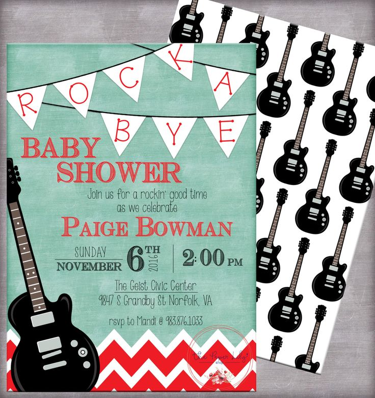 Rock A Bye Baby Shower Printable Invite Template - Digital Download by ThePaperLilyShop on Etsy https://www.etsy.com/listing/246867508/rock-a-bye-baby-shower-printable-invite
