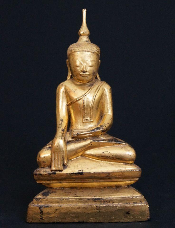 Antique Wooden Buddha Statue for Sale   Antique Buddha Statues #Burma
