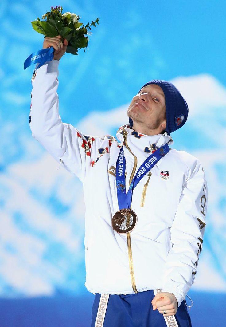 BIATHLON MEN'S 15km MASS START:  Bronze medalist Ondrej Moravec of the Czech Republic