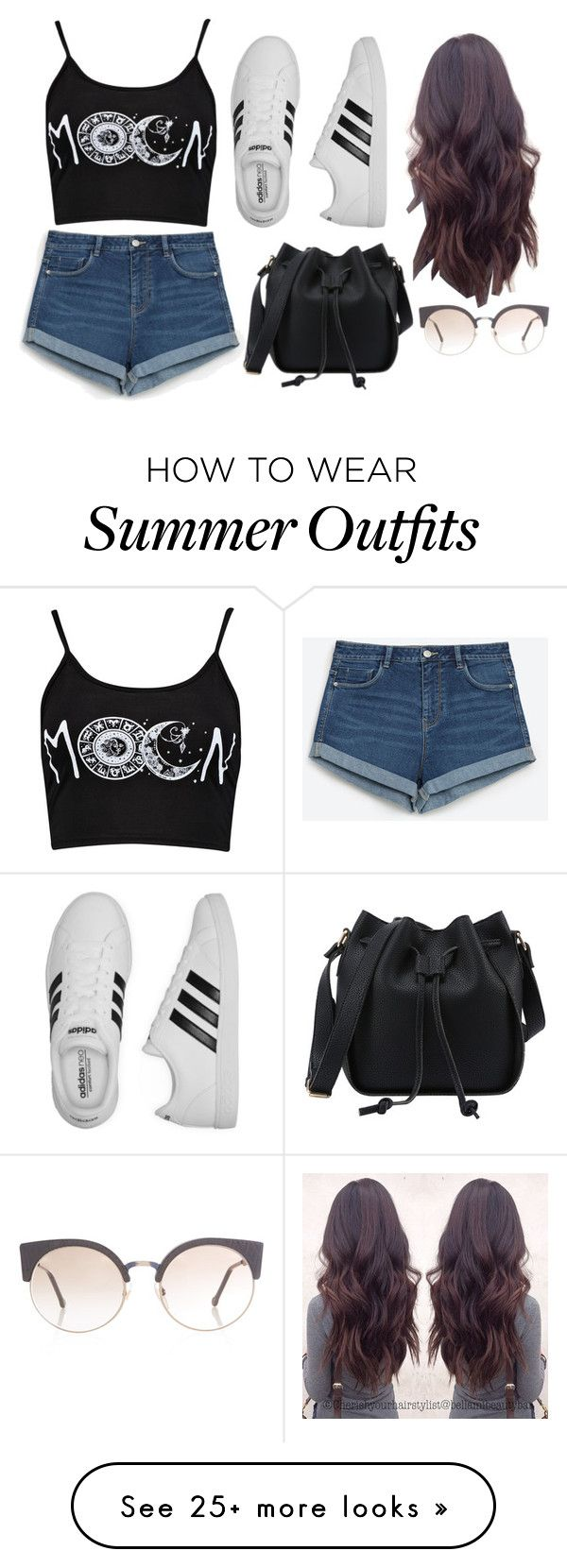 """Outfit 52"" by decemberbaby19 on Polyvore featuring Boohoo, Zara, adidas and RetroSuperFuture"