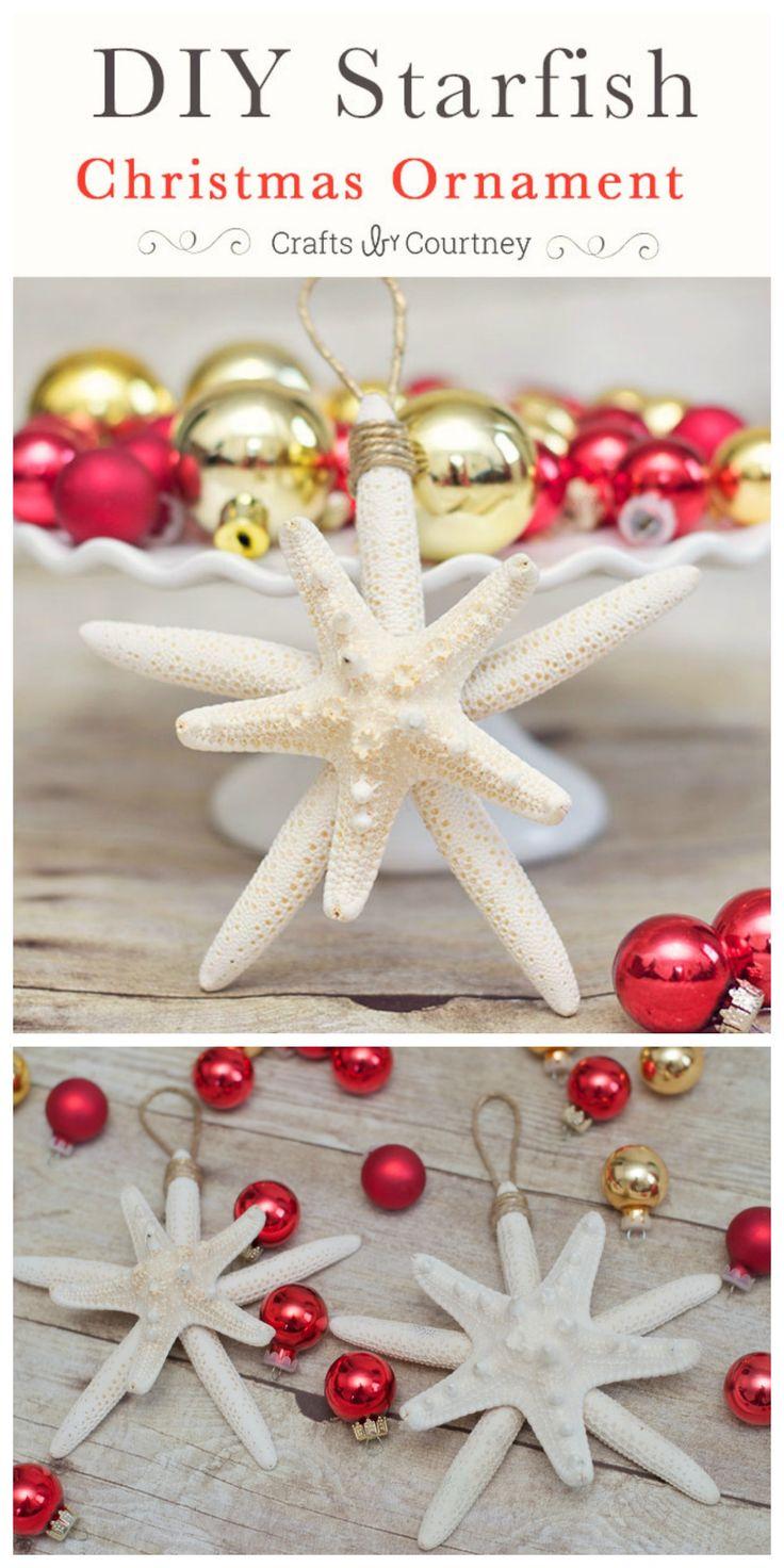 Seashell christmas ornaments - Diy Starfish Christmas Ornaments Getting Beachy With Christmas