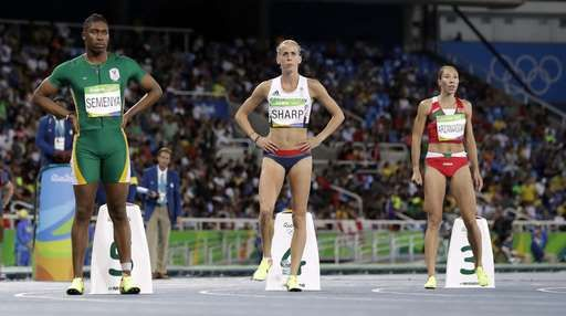 Chased by controversy: A timeline of Caster Semenya's career:  August 20, 2016  -    South Africa's Caster Semenya, left, Britain's Lynsey Sharp, center, and Belarus' Marina Arzamasova prepare to compete in a women's 800-meter semifinal during the athletics competitions of the 2016 Summer Olympics at the Olympic stadium in Rio de Janeiro, Brazil, Thursday, Aug. 18, 2016. (AP Photo/David J. Phillip)