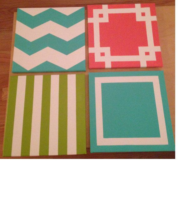 Made To Order Canvas Paintings Select Designs Including Chevron