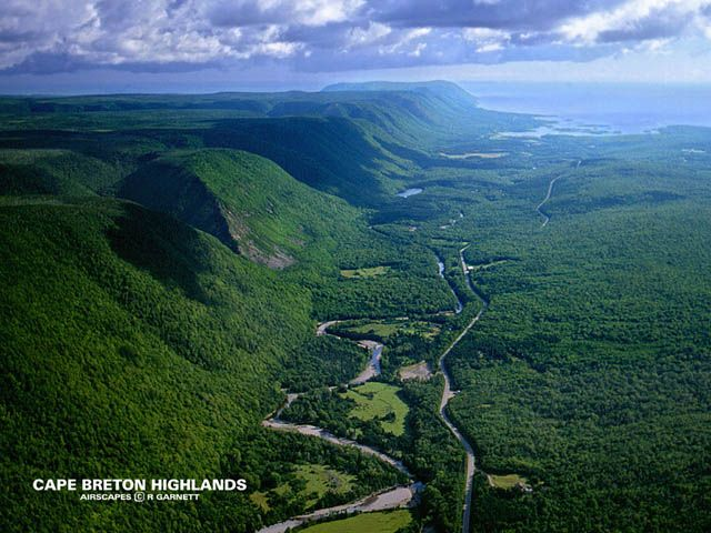 Cape Breton Highlands National Park, Nova Scotia, Canada in 2001