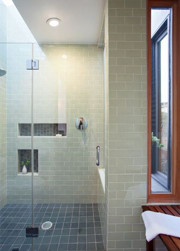 Shower with two niches -- Ogawa Fisher Architects