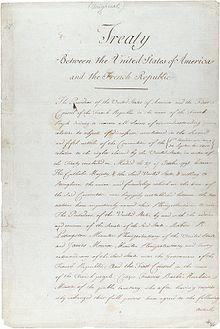 The original treaty of the Louisiana Purchase