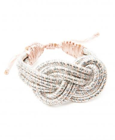 Sequence Silver Twisted Knot Bracelet