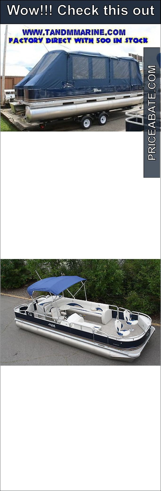 boats: New 24 fish and fun pontoon boat with full camper encloser #Boats - New 24 fish and fun pontoon boat with full camper encloser...
