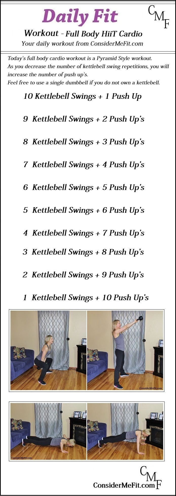 I chose this one to pin because it will improve your cardio endurance by every time you repeat it will get easier