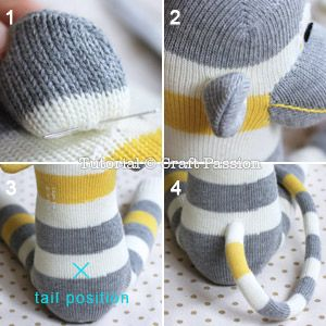 Sew | Sock Monkey | Free Pattern & Tutorial at CraftPassion.com - Part 2