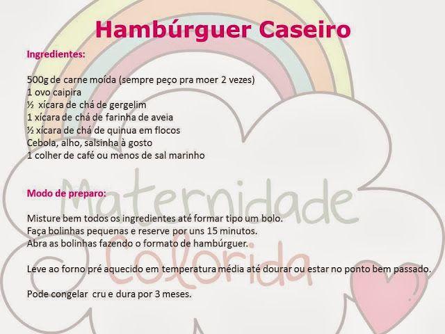 Reeducação Alimentar com Alimentação Saudável: Hambúrguer Caseiro