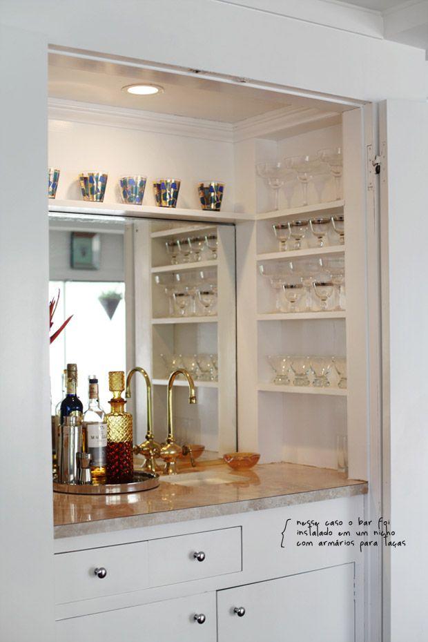 the charm of having a home bar decor details interior design rh pinterest com shelves for beer glasses shelves for hanging glasses
