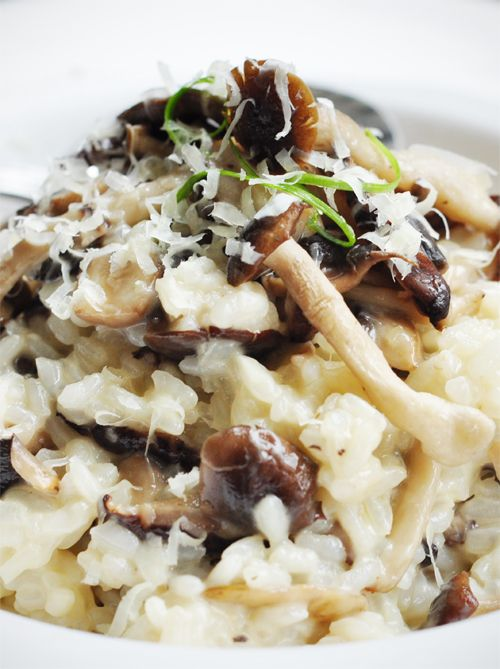 Mushroom Risotto - winter comfort food.