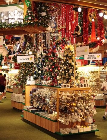 Bronners - Frankenmuth, MI  Everything you can imagine for Christmas...and more