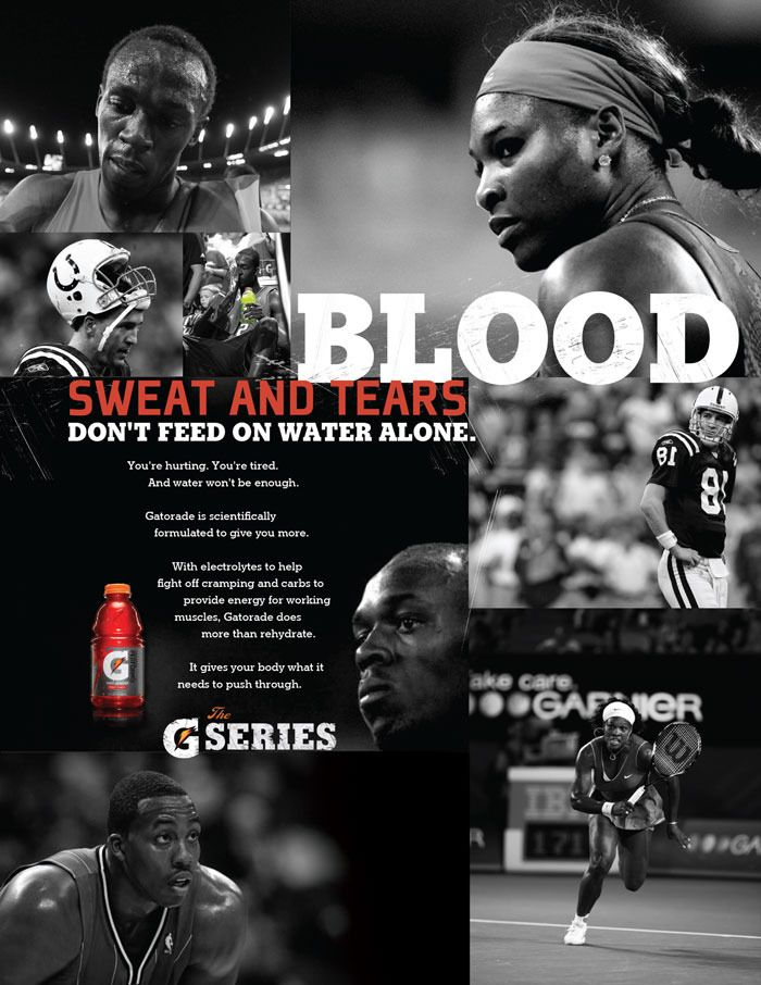 You've Gotta Earn the Sugar, Urge New Gatorade Ads