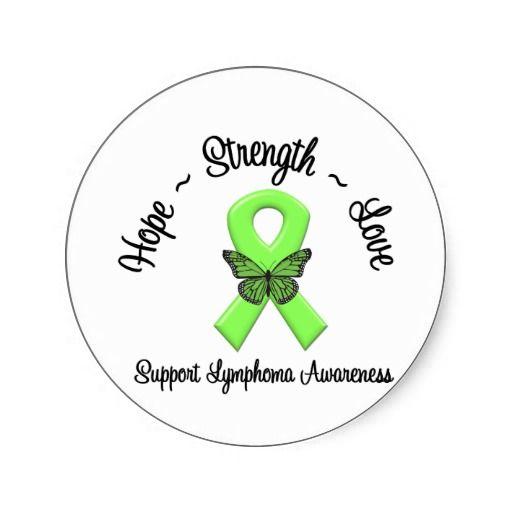 lymphoma awareness | Lymphoma Awareness Butterfly Sticker from Zazzle.com
