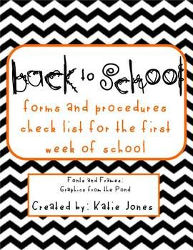 FREE download for back to school - parent contact form, student info form, parent questionnaire, and a procedure checklist...