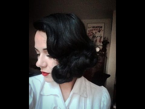 """Vintage Waves from the Golden Age """"1930s Short Hair Wet-Set"""" - YouTube"""