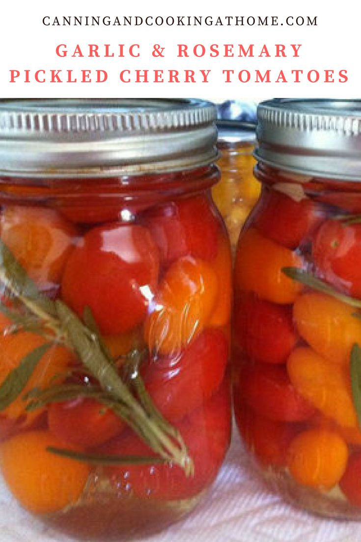 Pickled Grape or Cherry Tomatoes in a Garlic & Rosemary Brine