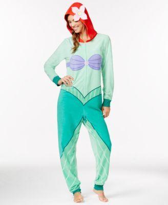 Ariel Adult Hooded Onesie   macys.com