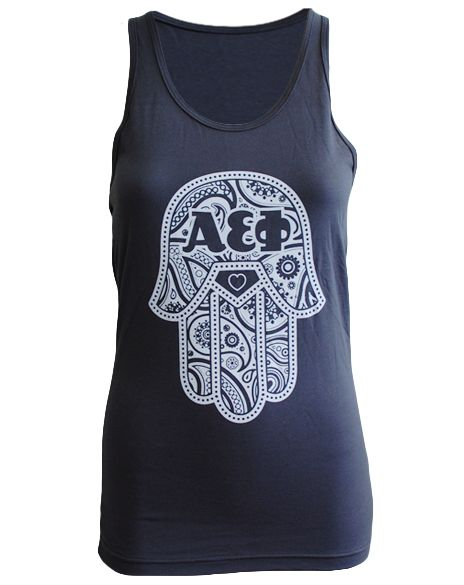 "Alpha Epsilon Phi Hamsa Tank Adam Block Design - Use code ""fsuKL1001"" for 10% off your first order and 5% off every order after!"