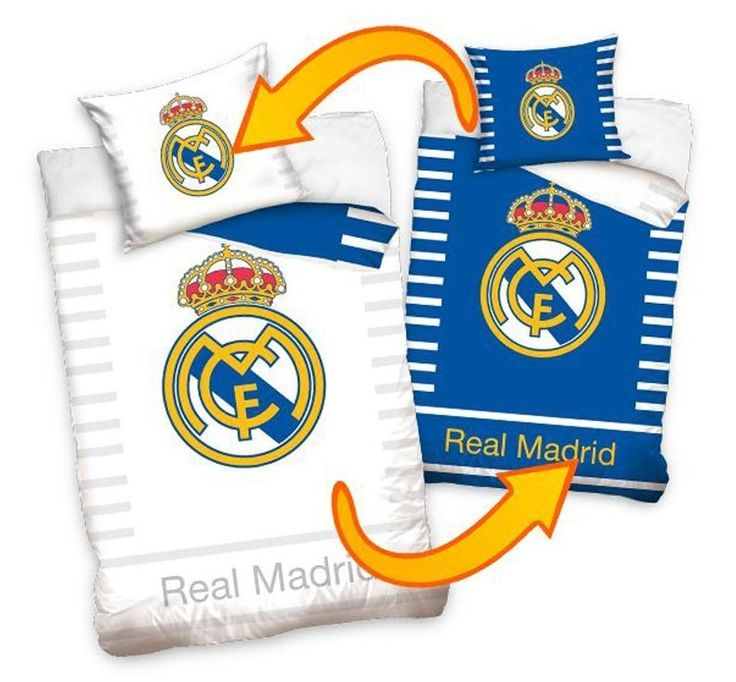 Fotbalové povlečení REAL MADRID DOUBLE bavlna hladká, 140x200cm + 70x80cm   Internetový obchod Chci POVLEČENÍ.cz