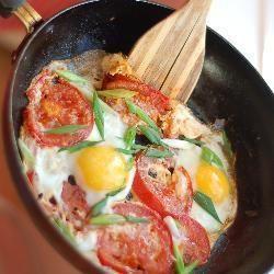 Uova fritte con il pomodoro @ allrecipes.it