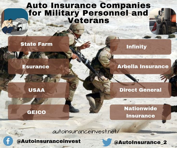 Auto insurance companies for military personnel and