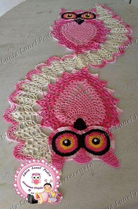 crochelinhasagulhas: Tapete de coruja em crochê