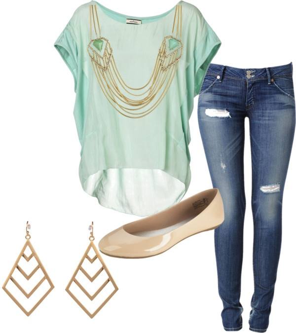 """Mint outfit"" by kathyalice on Polyvore"