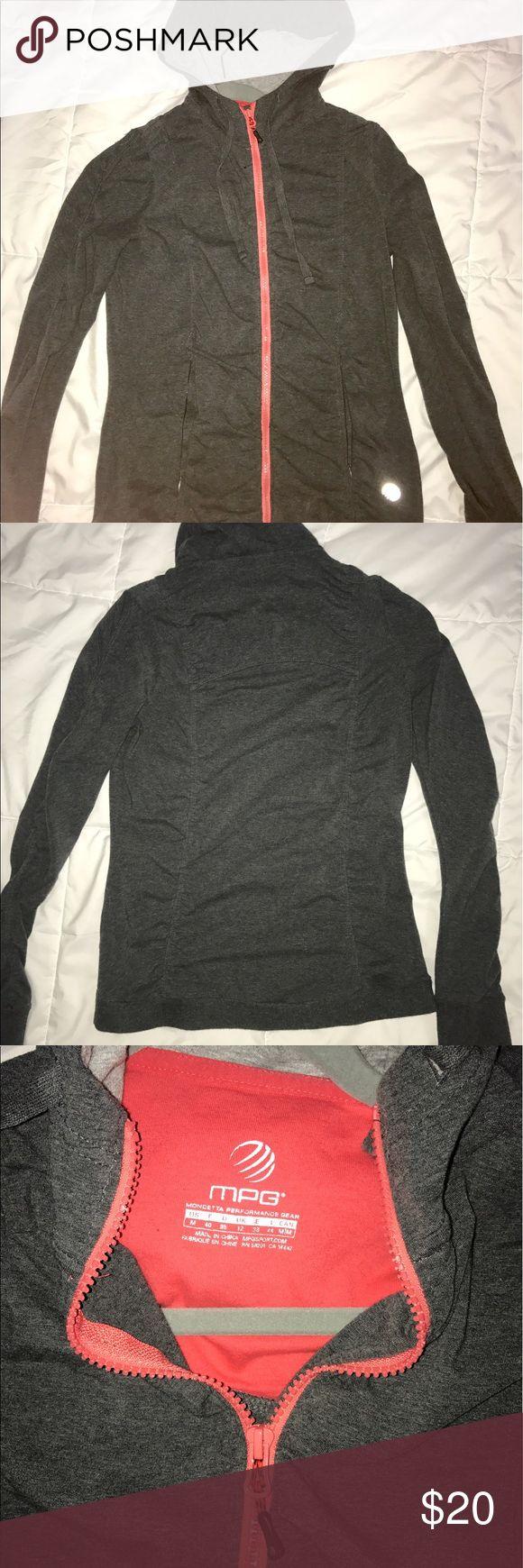 MPG athleisure jacket MPG athletic full zip hoodie, form fitting MPG Jackets & Coats