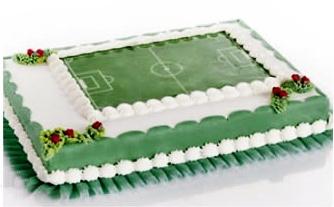 Torta campo di calcio ... Lollix will go  crazy for this one!!
