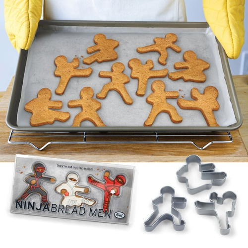 Ninjabread Men Cookie Cutters- if i have a boy