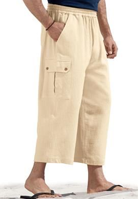 Big and Tall Judo Gauze Cotton Cargo Shorts with Full Elastic Waist | Cargo Shorts for Men | OneStopPlus  -  pants, color options.        lj